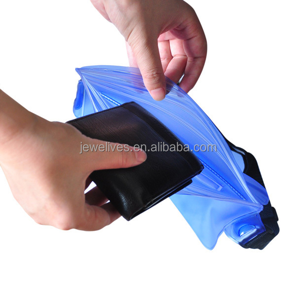 New market idea clear plastic mini running waist bag for ipad