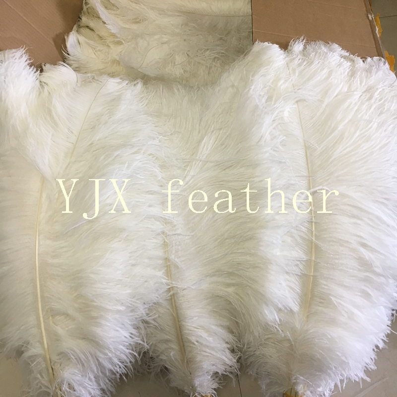 70-75cm wholesale white synthetic artificial ostrich feathers for wedding birthday party decoration