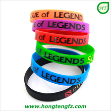 Custom wrist bands silicone rubber bracelet with logo printed