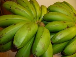 Unpeeled Green Banana Plantain