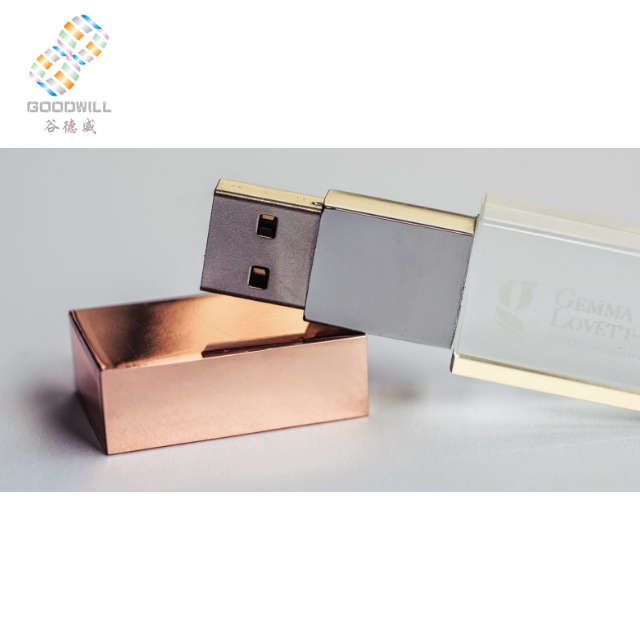 Rose Gold Usb Flash Drive Crystal