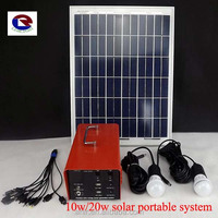 12V/12AH portable solar system for rural area lighting