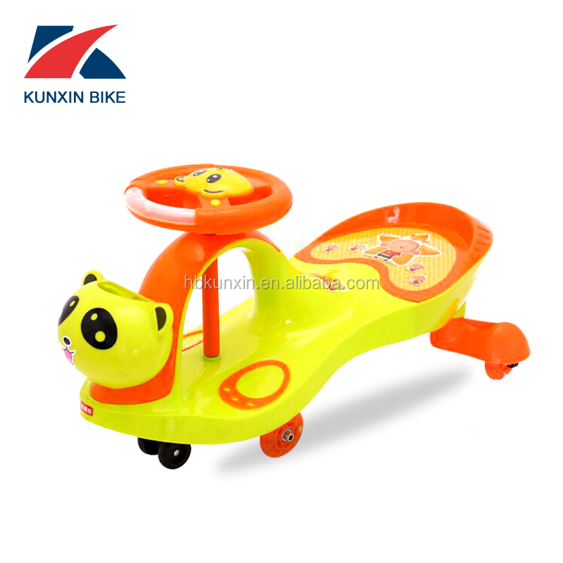 Hot Sale Colorful Baby Twist Car For Kids Ride On Plastic Swing Car
