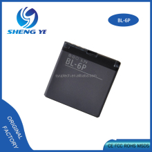 3.7v 830mah rechargeable battery li-ion BL-6P spice mobile phone battery for nokia 6500 classic