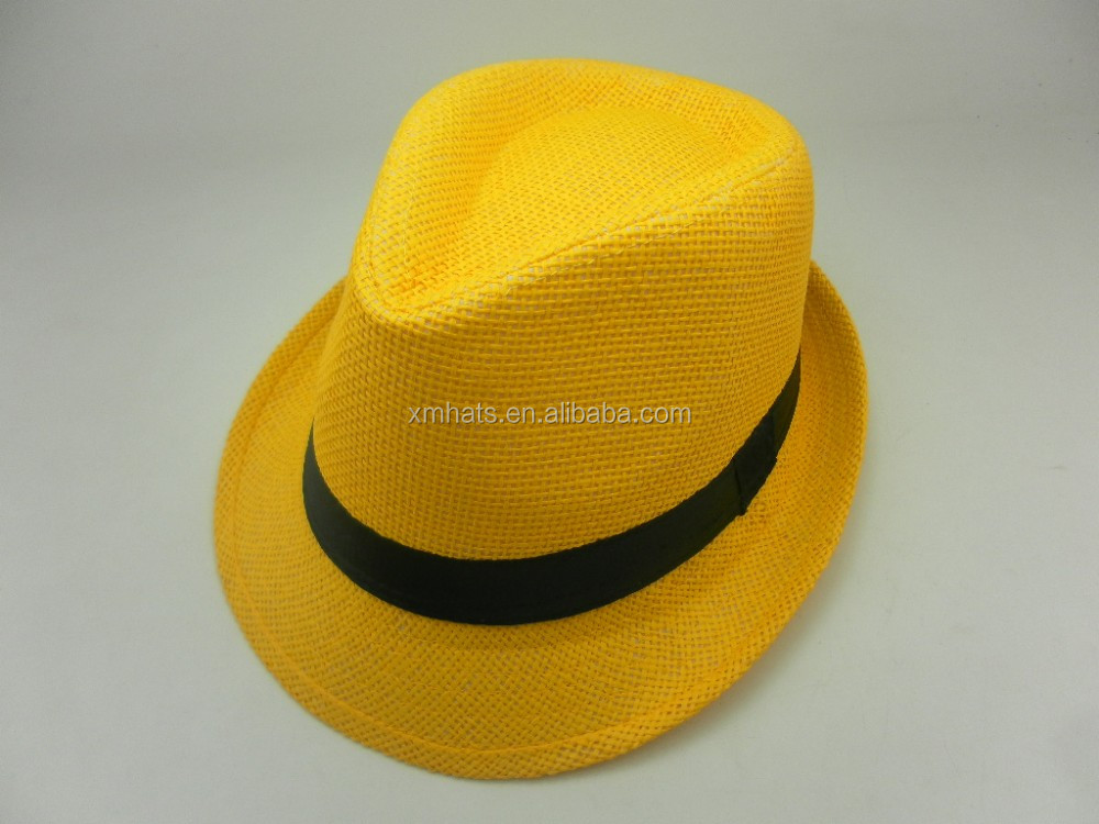 China gold supplier durable most popular panama fedora straw hat