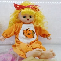 Hot sale laugh music newborn infants baby girl clothes reborn silicone vinyl doll with laughter for baby gift toys wholesale