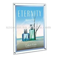 wall mounted led super slim crystal light box with ce and rohs