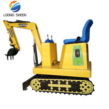 loongsheen brand mini electric toy excavator coin operated kids ride on toy excavator