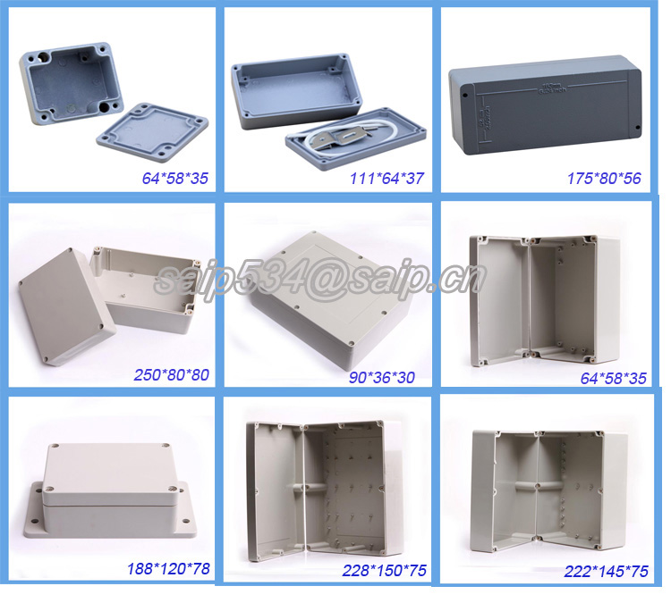 small hard hinged plastic small plastic enclosure electronic 63*58*35 IP66