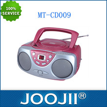 Wholesale portable pink cd radio player,cd boombox FM radio
