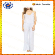 Custom Modal Cotton Adult Jumpsuit Pajama/Sexy Adult White Pajama Jumpsuit Wholesale