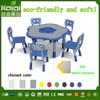 preschool kids study table and chair classroom height adjustable desk furniture