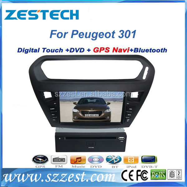 ZESTECH Wholesale double din Special car dvd for Peugeot 301 with accessories car parts headrest dvd player