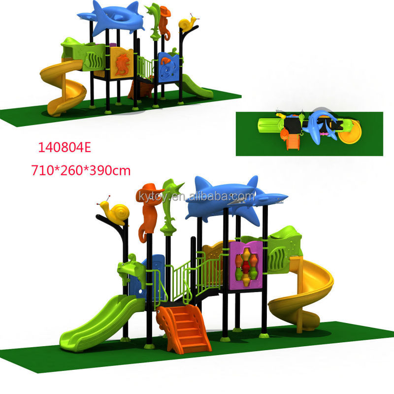 Children plastic Outdoor Playground equipment for sale