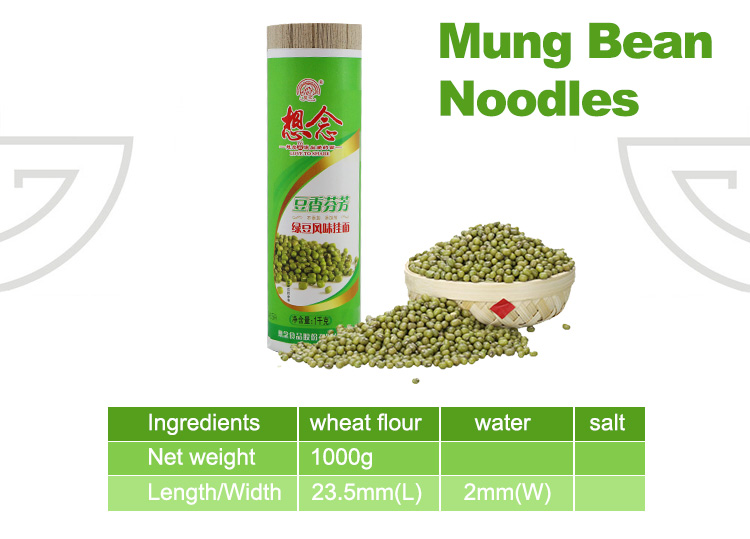 Xiang Nian Brand Wholesale Instant Dried Noodles 1000g Mung Bean Noodle