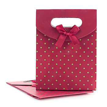 Customized sweet red jewelry paper bags