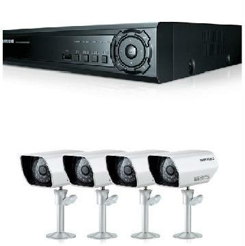 I8G - SAMSUNG SDE-3170 500GB H.264 4 CHANNEL CCTV DVR WITH 4 CCTV SECURITY CAMERA