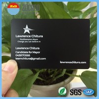 Cheap price Stainless Steel credit card size printed metal card for business