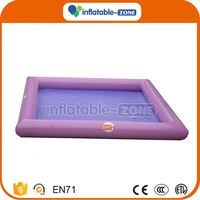 Customized safety inflatable water pool custom outdoor inflatable rectangular water pool