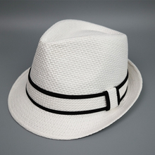 Cheap paper promotional straw hat men's fedora hat