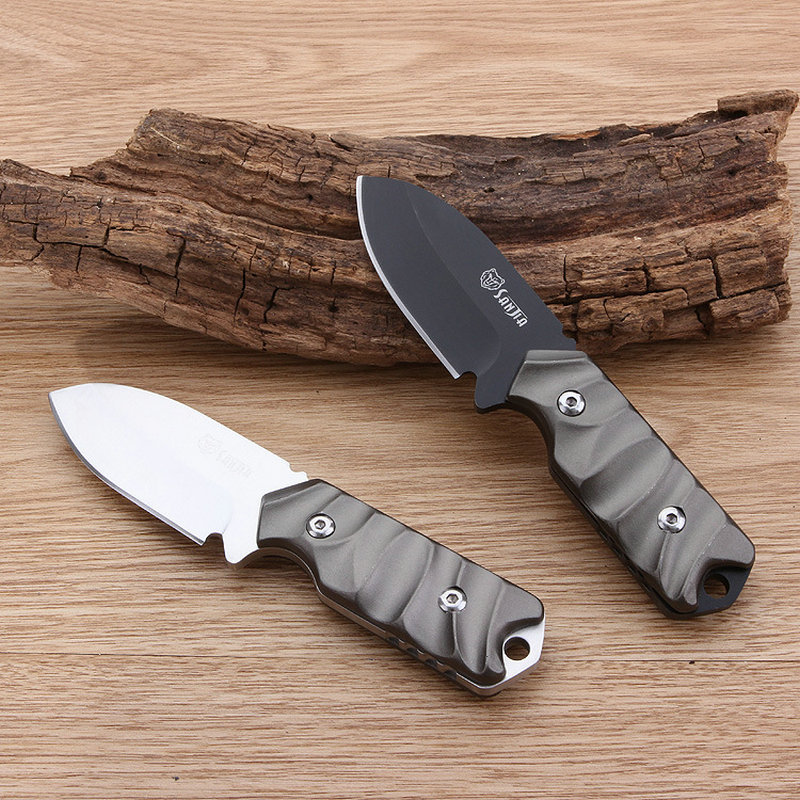 Stainless steel Handle Small Camping Knife Two Color Hand Knives 55HRC Multifunction Tool Dropshipping 2354