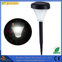 Aluminum & Plastic Double LED High Lumen Stainless Steel & Plastic Solar Lawn Light solar outside light
