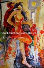 Thick oil character abstract modern family decoration paintings