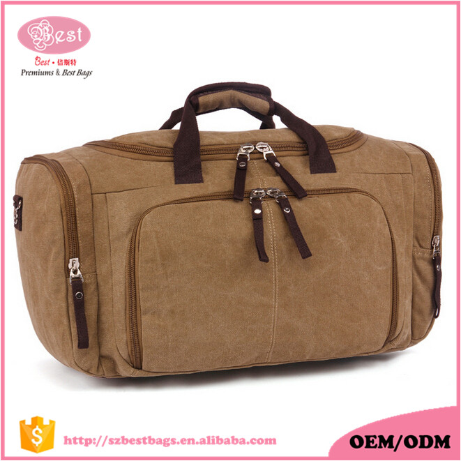 China Wholesale Duffle Bag Manufacturer Western Style Lots Pockets Weekender Bag Canvas Safafi Bag for <strong>Travelling</strong>