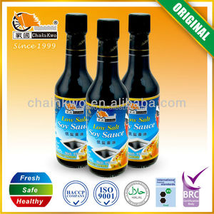 Hot sale premium low salt light soy sauce 500ml