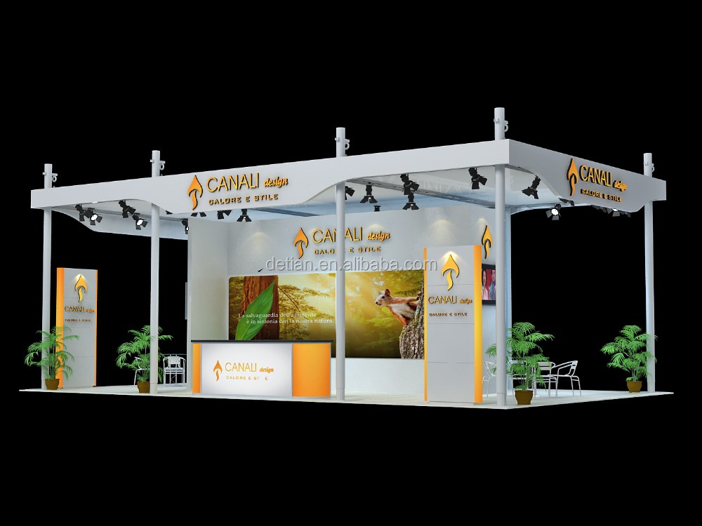 Aluminum trade show economical light aluminum truss stand system , exhibition booth , booth display stand design for trade show