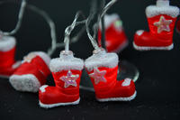 new decoration christmas sock led battery light