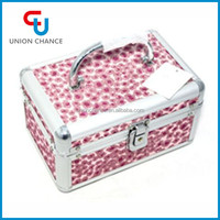 Fashion Professional Combination Lock Hard Case Cosmetic Bag