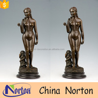 Female art sexy girl casting nude woman bronze sculpture NTBH-S941A