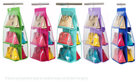 Hanging style PVC storage organizers for hand bags