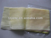 yellow cotton gauze fabric