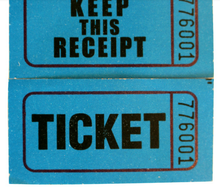 raffle ticket/coupon ticket roll paper, paprty ticket printing