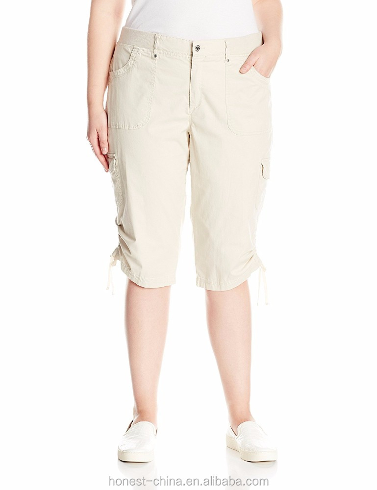 2016 high quality comfortable fit cargo shorts for women
