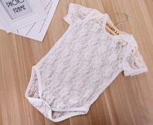 Fashion Newborn Lace Romper Baby Clothes White Newborn Photography Props Baby Girls Jumpsuit Infant New Born Clothing