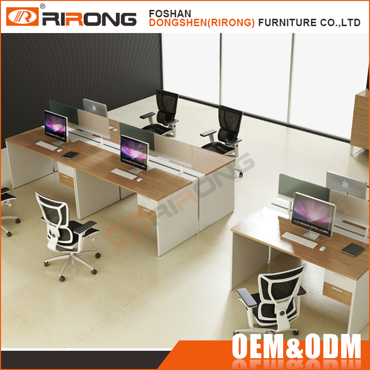 Modern office furniture call center 4 person office workstation with partition