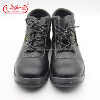 leather industrial safety shoes with steel toe