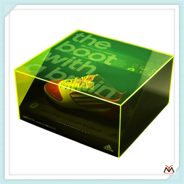 nike shoes box,green color shoes acrylic display box