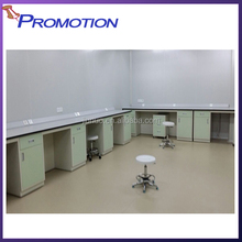 All-welded Steel fixed / Movable Cabinet Dental Laboratory Work Table