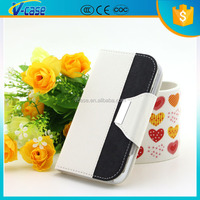 Colorful leather magnet flip cover pouch pc + pu leather covers case for iPhone 6