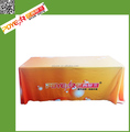 Custom fabric table throw runner tradeshow table cloth in cheap price