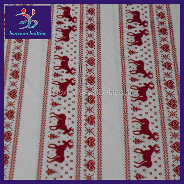 100 polyester knit christmas fleece fabric