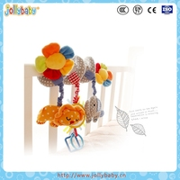 Jollybaby Cartoon Cute Animals Crib Spiral Toy With Hanging Soft Toys
