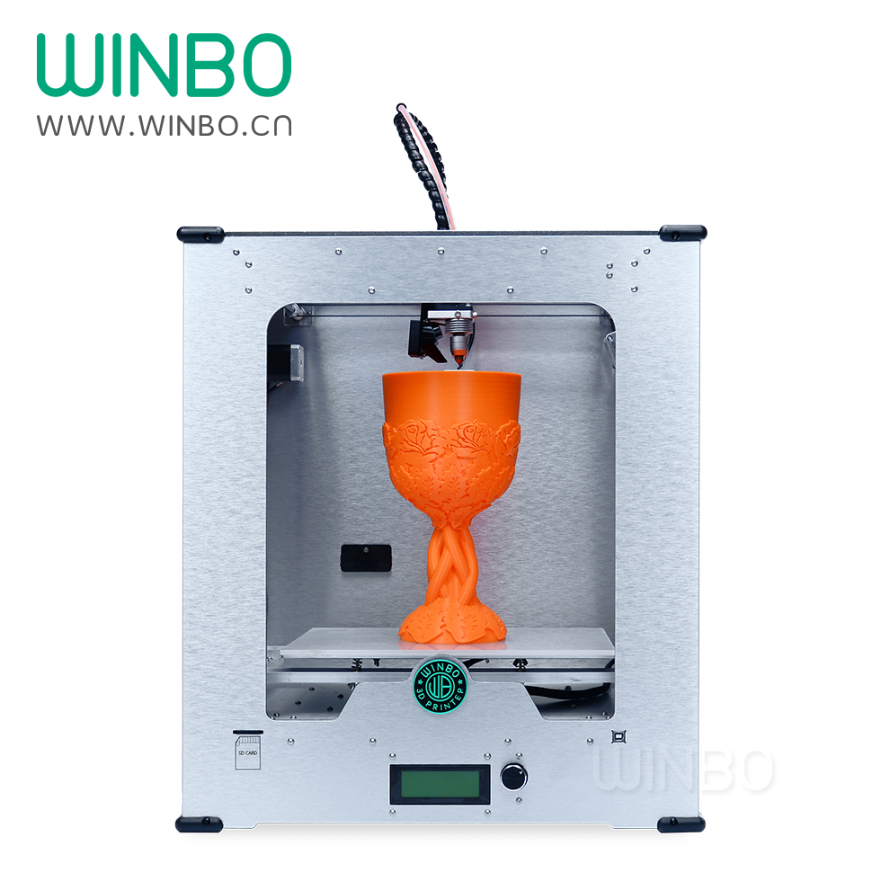 Winbo 3D Printer Build Size 305*205*305 mm, Most Practical Desktop 3D Pritner for Sale , 3D Printer China