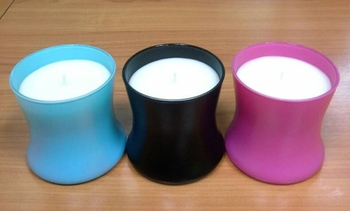 Luxury Soy wax Scented candle / Color glass / OEM /Thailand