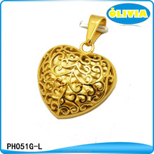 Hot Selling Products Fashion Women Accessories Large Heart Shaped Filigree Locket Pendant