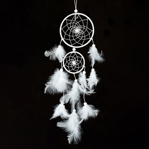 Customized Beautiful Feather Dreamcatcher Decoration Handmade Dream Catcher For Kids Gift